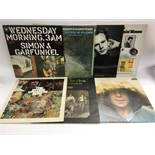 Seven US folk rock LPs by various artists including Simon & Garfunkel, The Byrds and CSNY.
