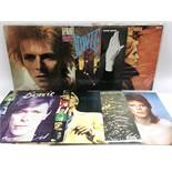 Eight David Bowie LPs comprising 'Low', 'Heroes', 'Pin Ups' and others.