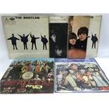 Six early issue Beatles LPs including 'Sgt Pepper's', 'With The Beatles', 'Help!' and others.