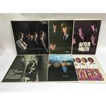 The first six Rolling Stones LPs, some early UK pressings. Condition generally VG+, 'Out Of Our