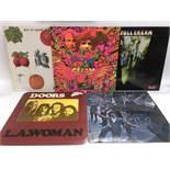 Three Cream LPs comprising 'Disraeli Gears', 'Full Cream' and 'Best Of' plus two Doors LPs