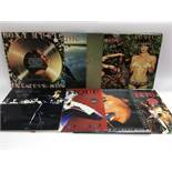 Nine Roxy Music LPs including 'Country Life', 'Stranded', 'For Your Pleasure' and others.
