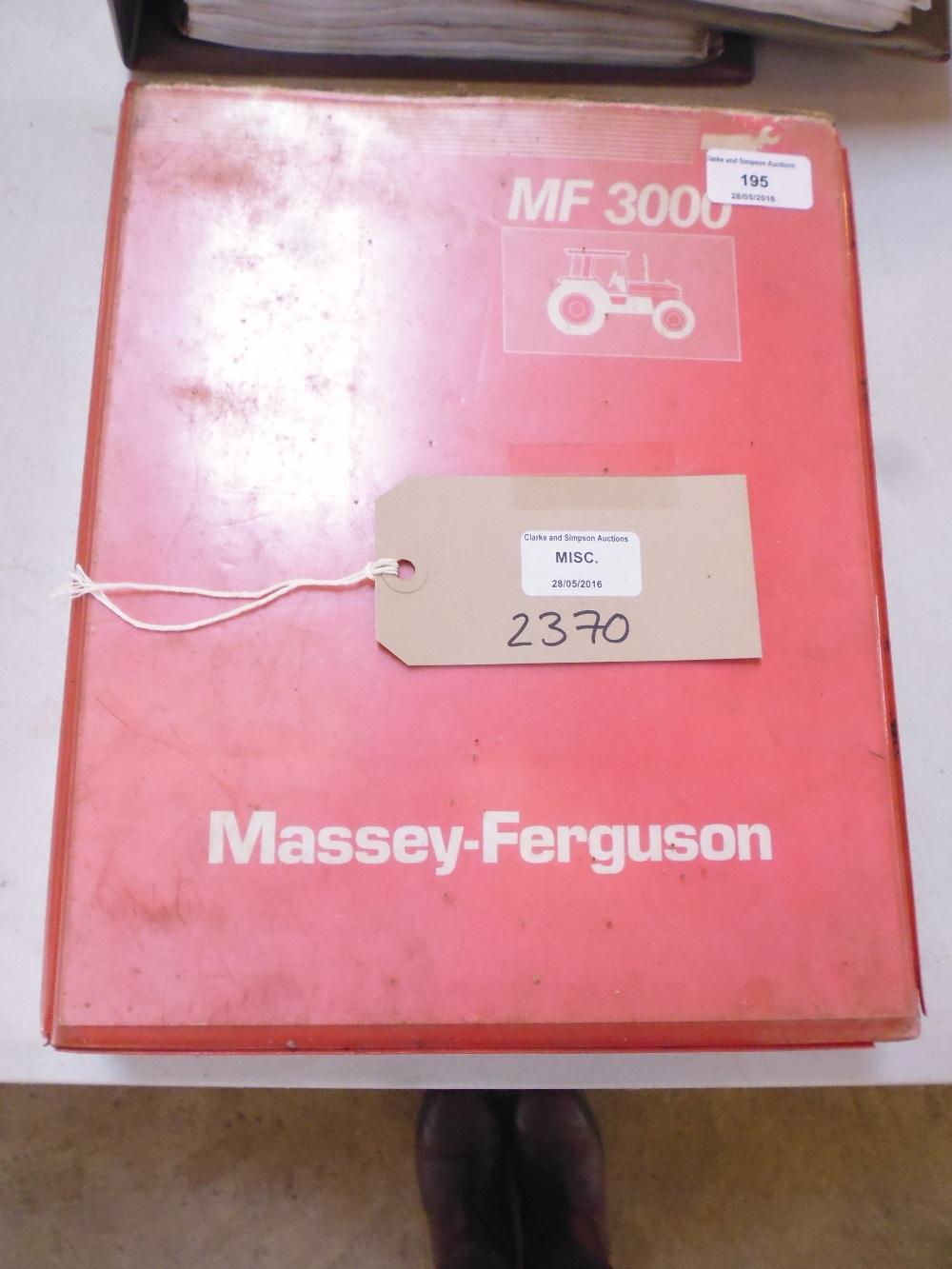 Lot 195 - Massey Ferguson 3000 Series workshop manual,