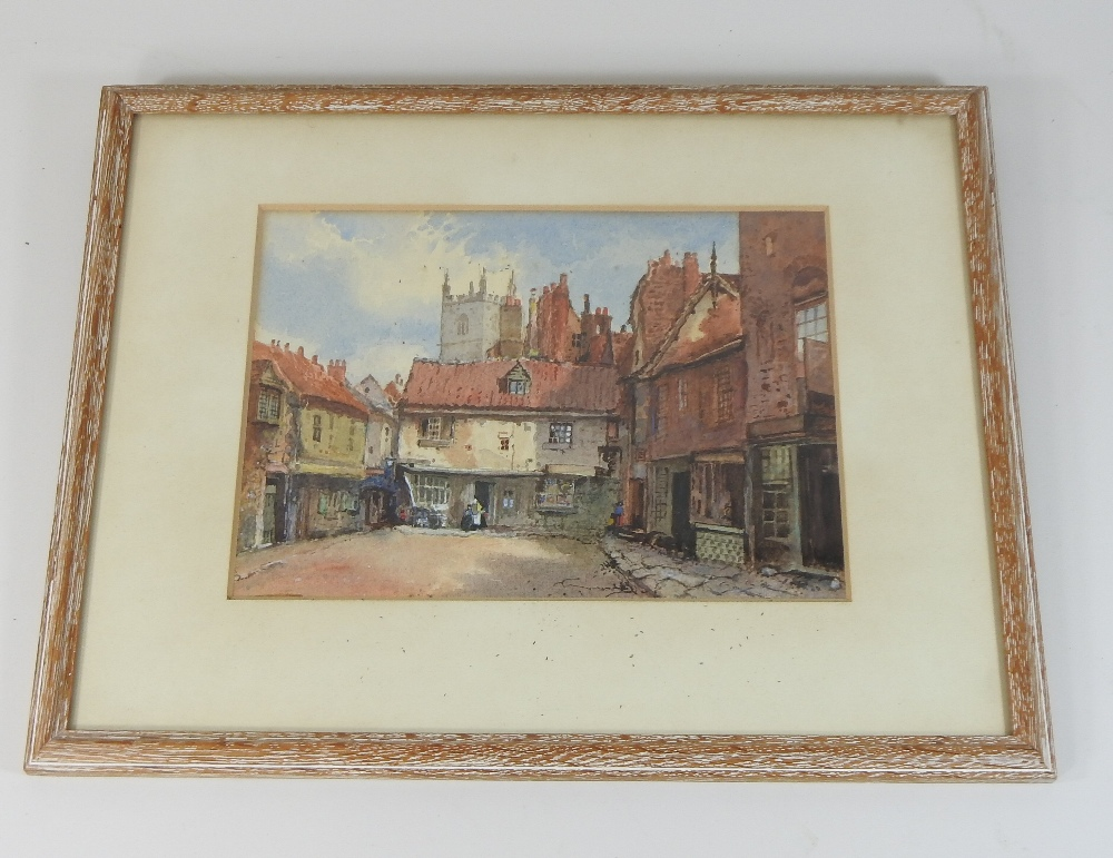 Lot 43 - English School, (19th century), a townscape, watercolour,