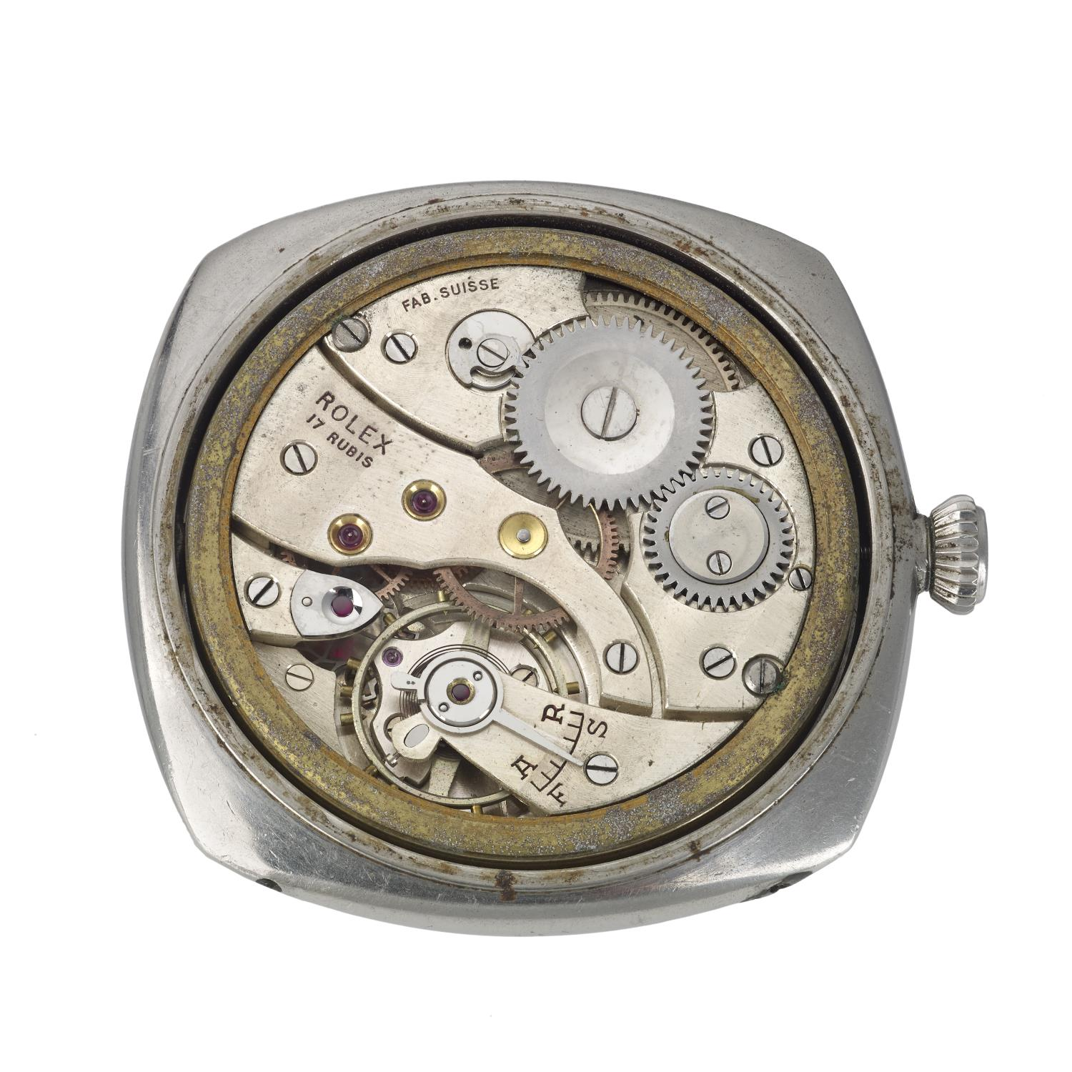 Lot 159 - PANERAI - a very rare and special Second World War military Diver watch head.