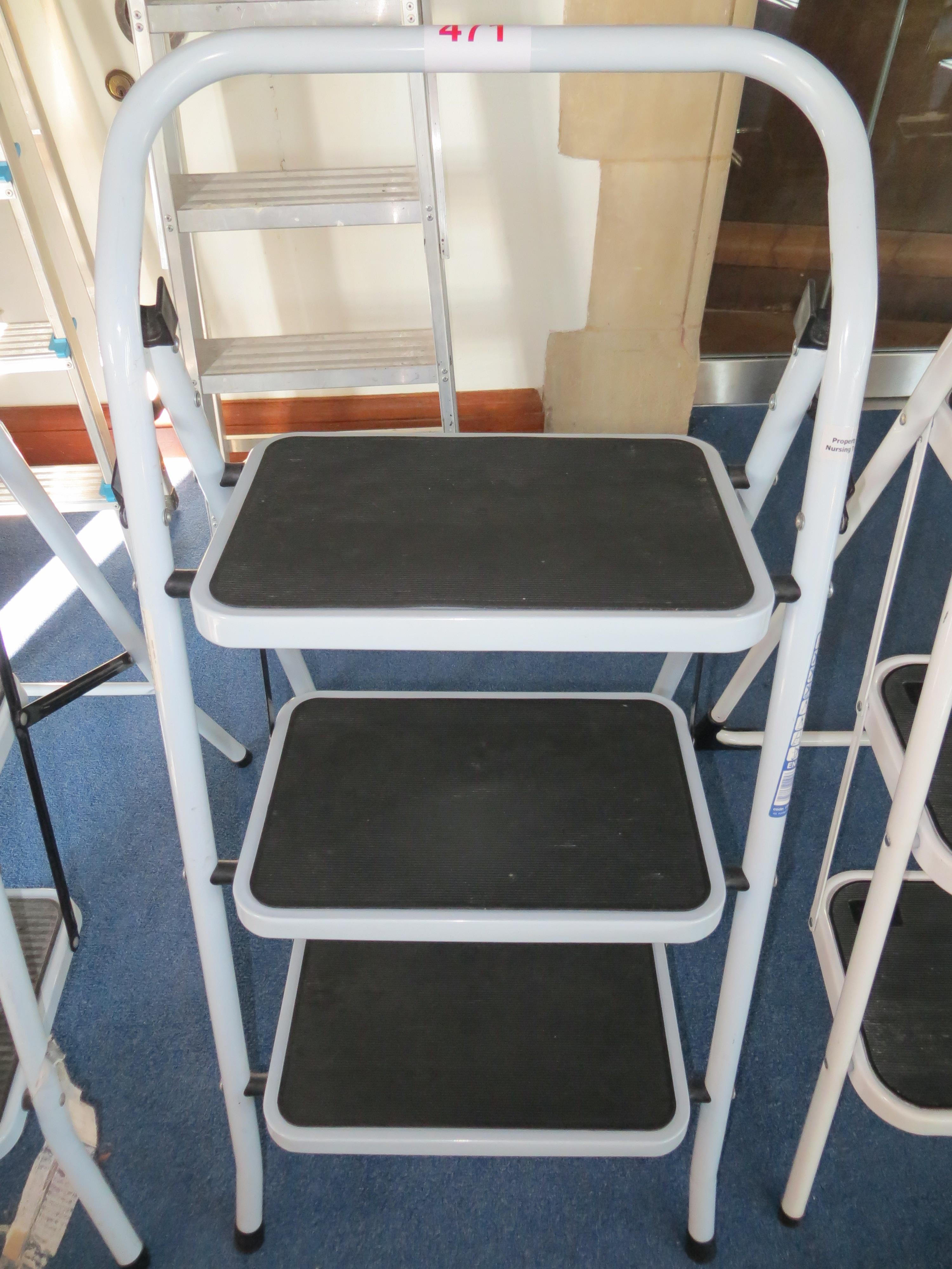 Lot 471 - Three tread folding steps