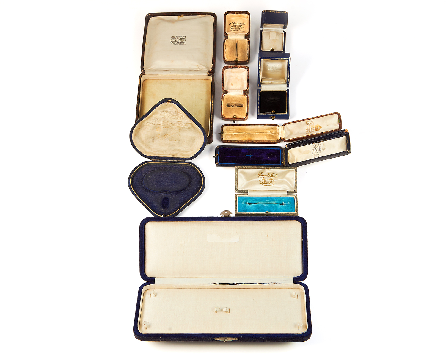 Los 247 - A COLLECTION OF TEN ANTIQUE AND NEWER JEWELLERY BOXES