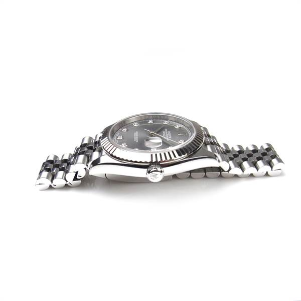 Rolex Oyster Perpetual Datejust 41 stainless steel and white gold watch. - Image 3