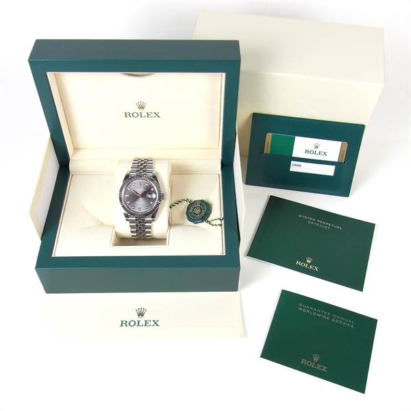 Rolex Oyster Perpetual Datejust 41 stainless steel and white gold watch. - Image 2