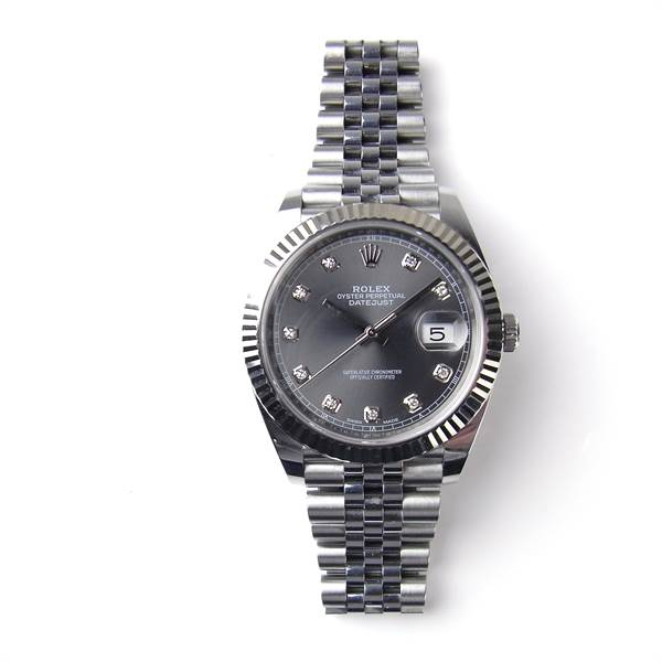 Rolex Oyster Perpetual Datejust 41 stainless steel and white gold watch. - Image 1
