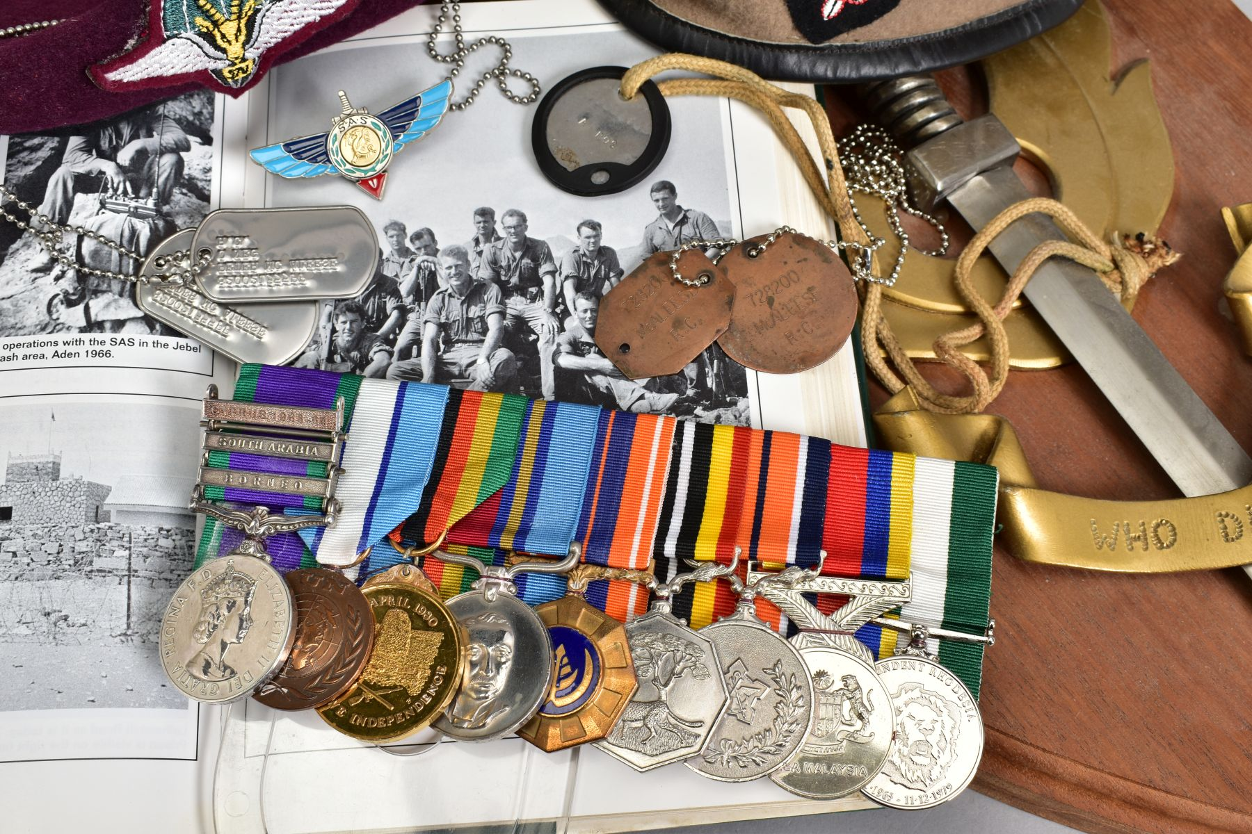 A SUPERB AND ALMOST TOTALLY UNIQUE GROUP OF NINE MEDALS, awarded to a member of the '22 Special - Image 22 of 36