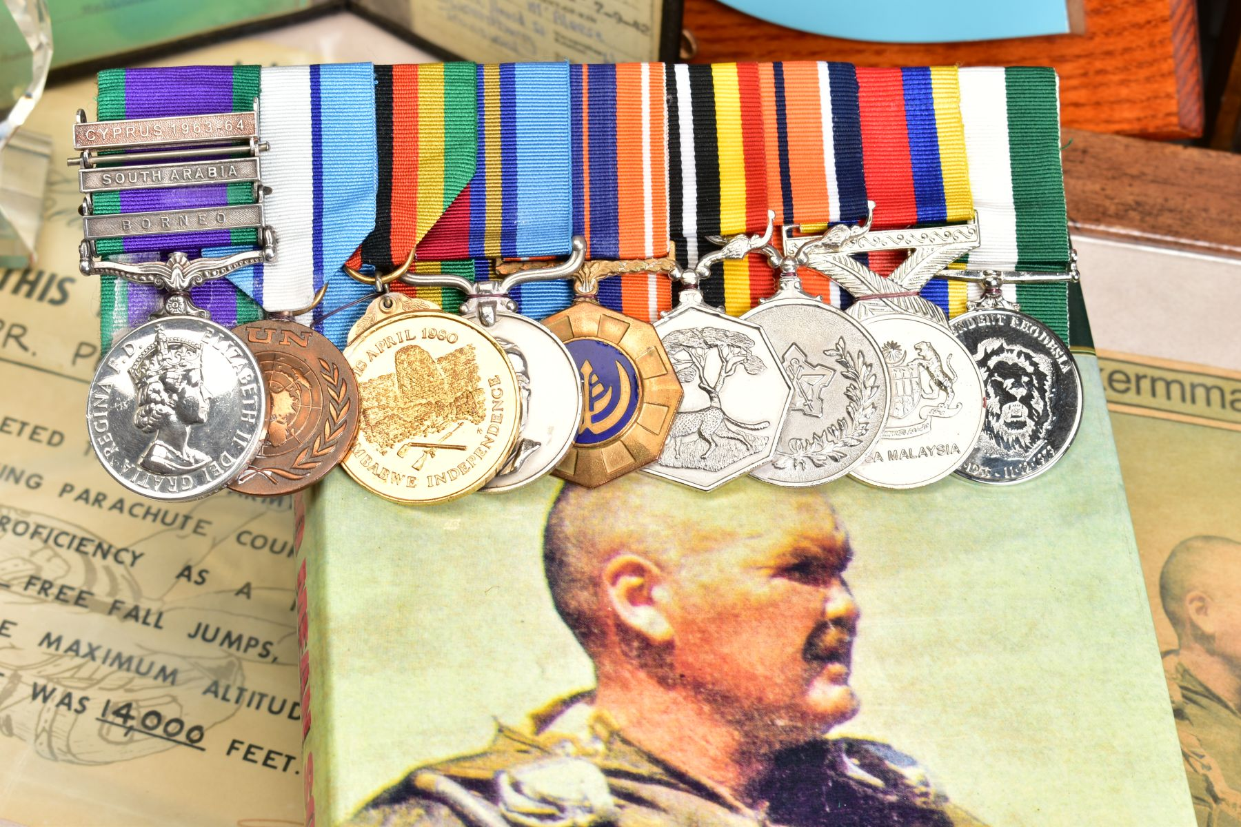 A SUPERB AND ALMOST TOTALLY UNIQUE GROUP OF NINE MEDALS, awarded to a member of the '22 Special - Image 7 of 36