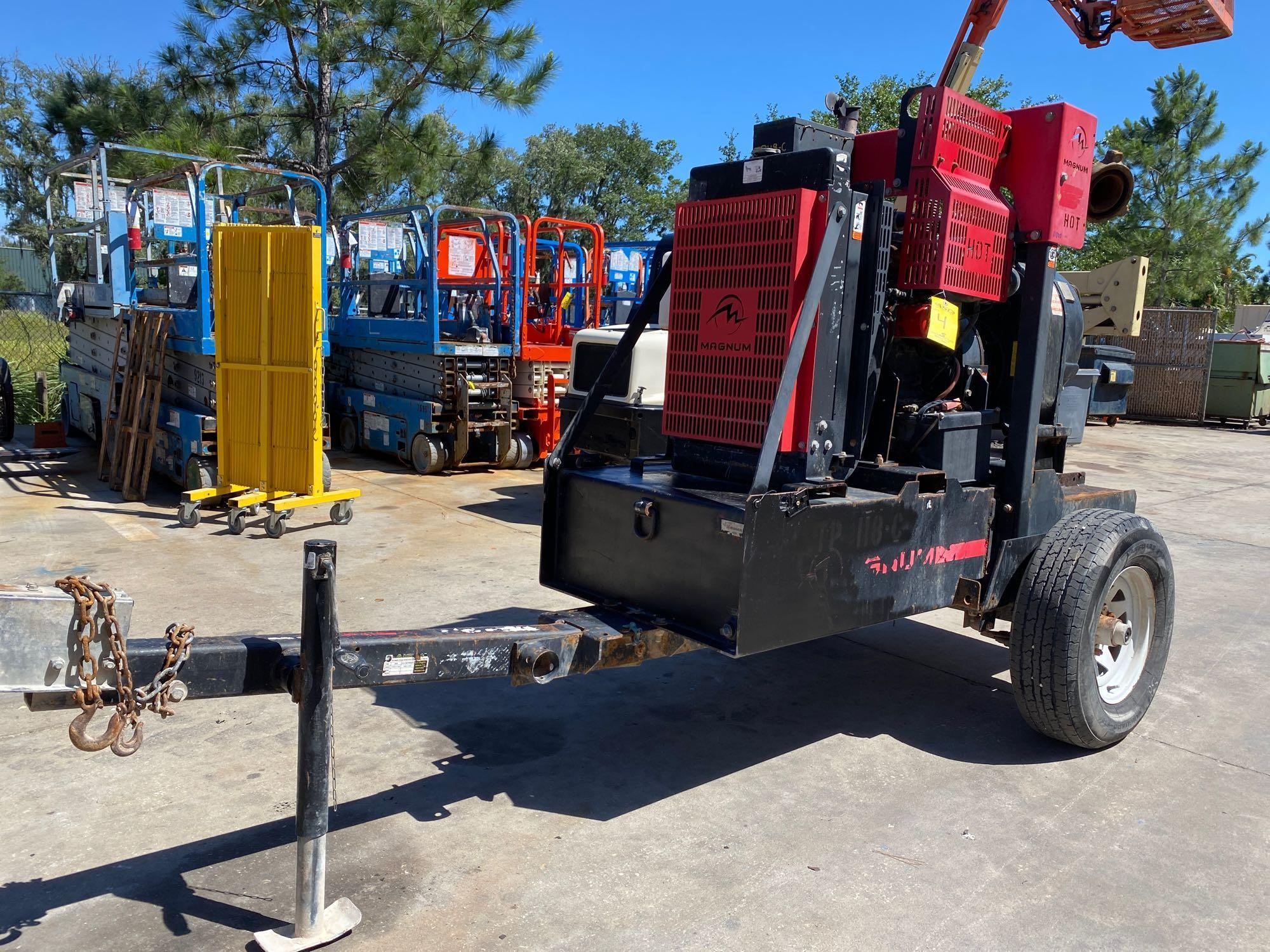TRAILER MOUNTED MAGNUM 4 INCH DIESEL PUMP, RUNS AND OPERATES - Image 2 of 9