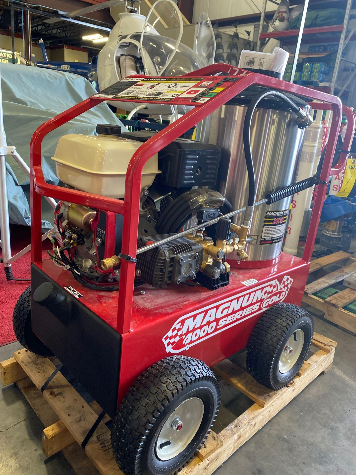 NEW/UNUSED 2020 MAGNUM 4000 HEATED PRESSURE WASHER, ELECTRIC START - Image 3 of 5