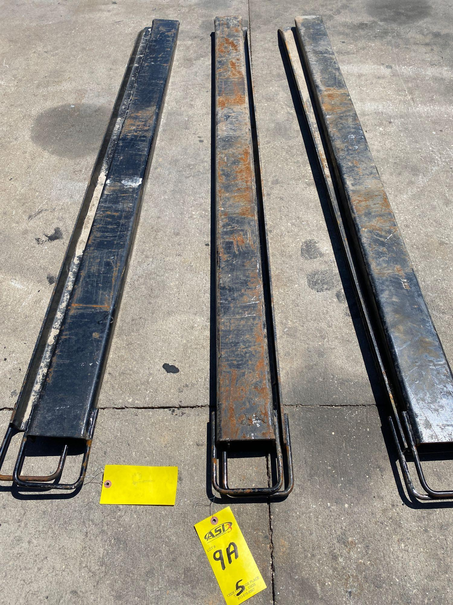 PAIR OF 7' SLIDE ON FORK EXTENSIONS - Image 4 of 5