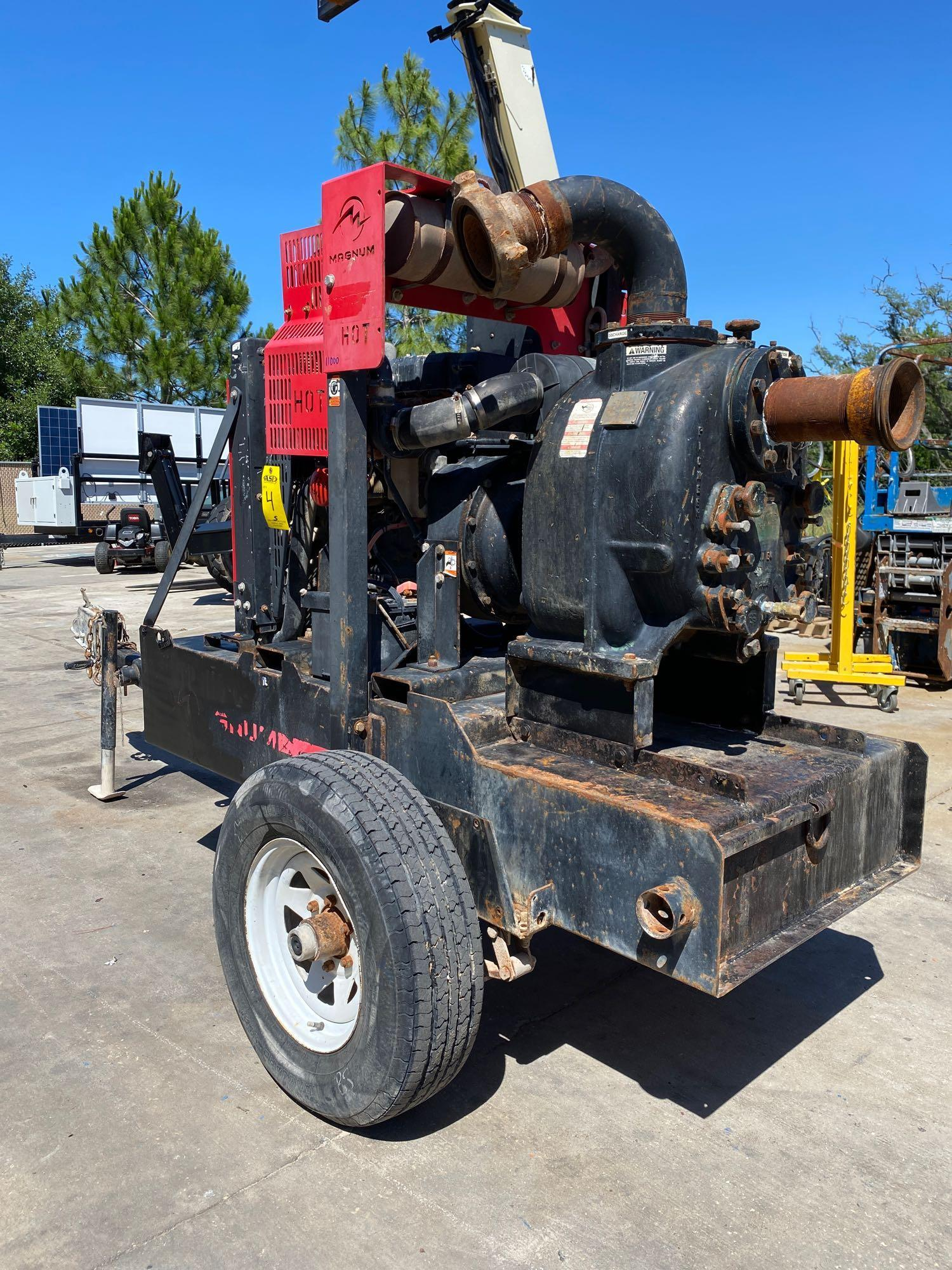 TRAILER MOUNTED MAGNUM 4 INCH DIESEL PUMP, RUNS AND OPERATES - Image 7 of 9