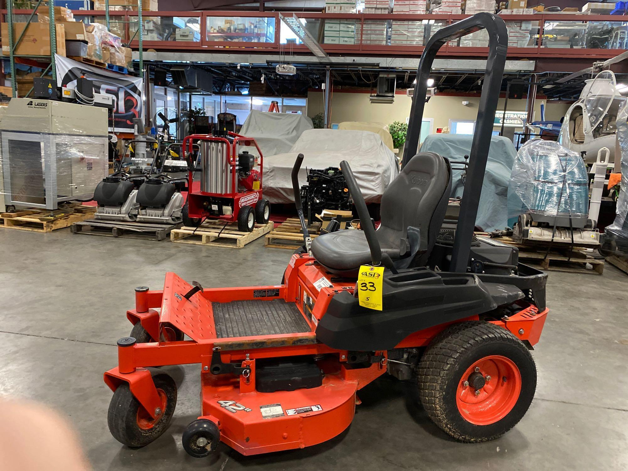 """2016 KUBOTA Z122RKW 42"""" RIDE ON MOWER, 3.9 HOURS SHOWING, RUNS AND OPERATES - Image 6 of 9"""