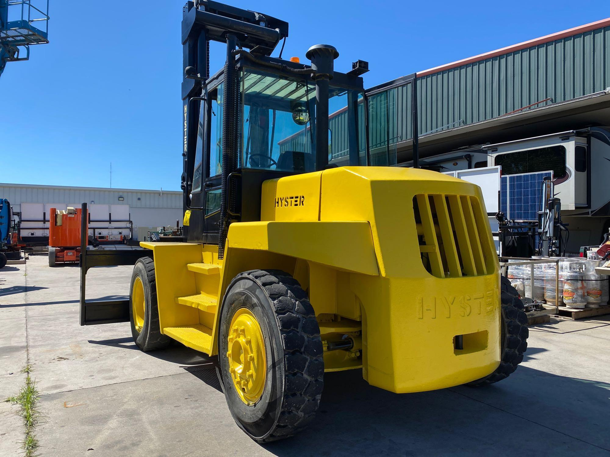"""HYSTER DIESEL FORKLIFT MODEL H190XL2, APPROX. 19,000 LB CAPACITY, 212.6"""" HEIGHT CAPACITY, RUNS AND O - Image 3 of 12"""