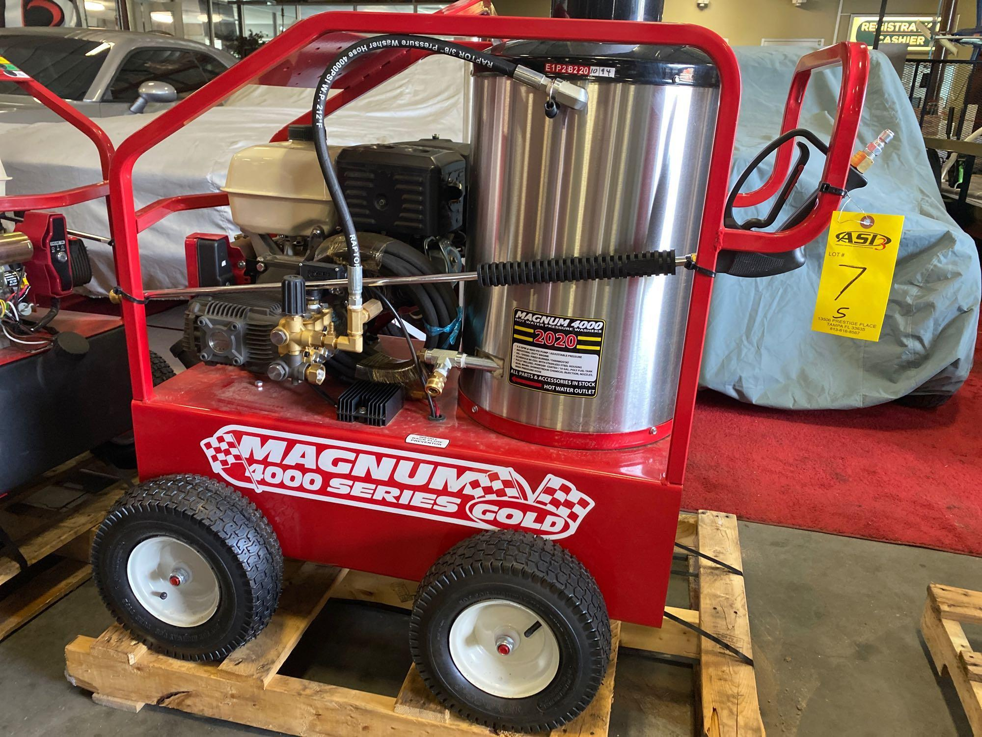 NEW/UNUSED 2020 MAGNUM 4000 HEATED PRESSURE WASHER, ELECTRIC START - Image 2 of 5