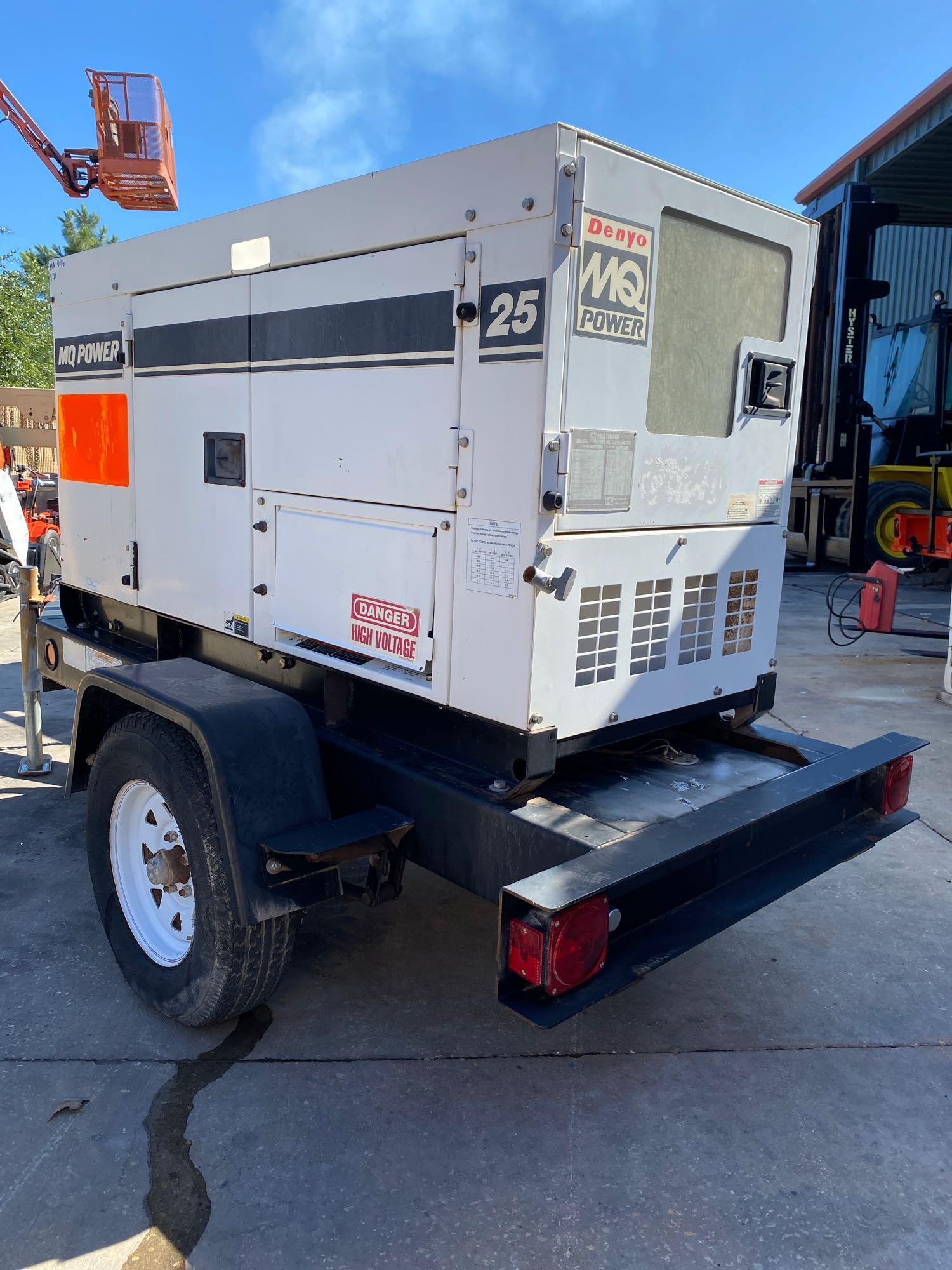 2012 WHISPERWATT MQ POWER DIESEL GENERATOR, TRAILER MOUNTED, 20KW, 25KVA, RUNS AND OPERATES - Image 4 of 10