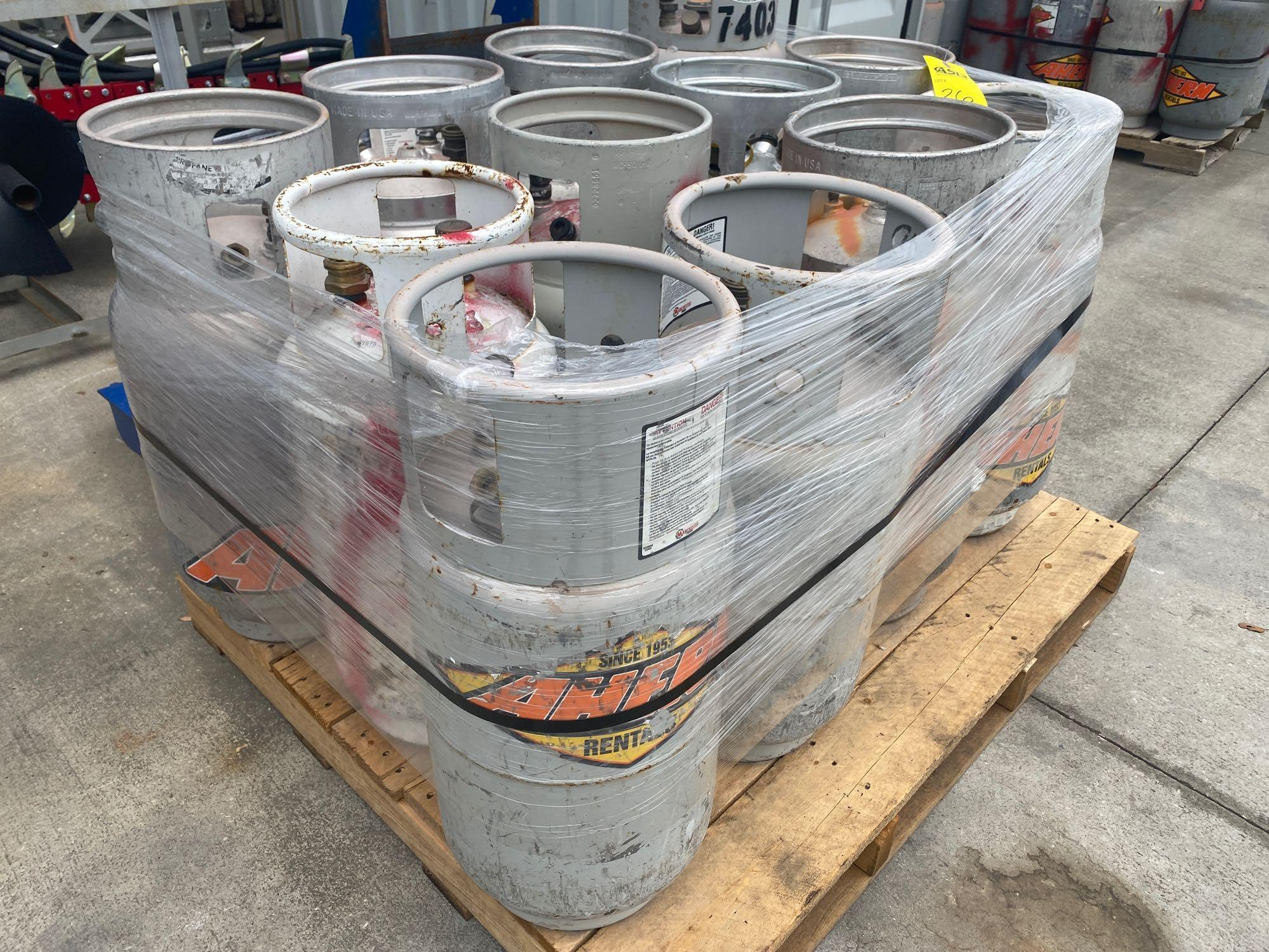PALLET OF PROPANE TANKS, ALUMINUM AND STEEL - Image 2 of 5
