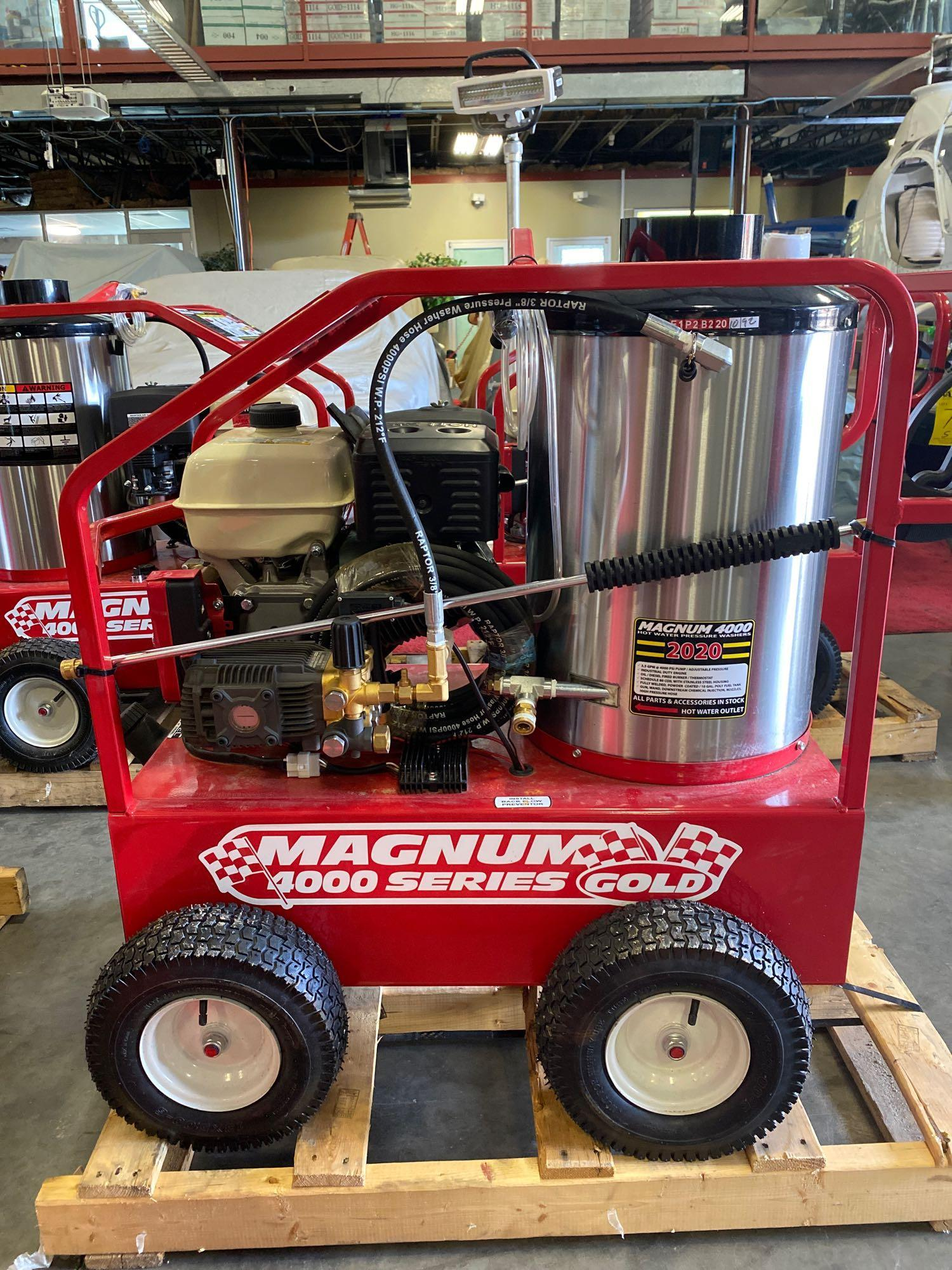 NEW/UNUSED 2020 MAGNUM 4000 HEATED PRESSURE WASHER, ELECTRIC START - Image 2 of 6
