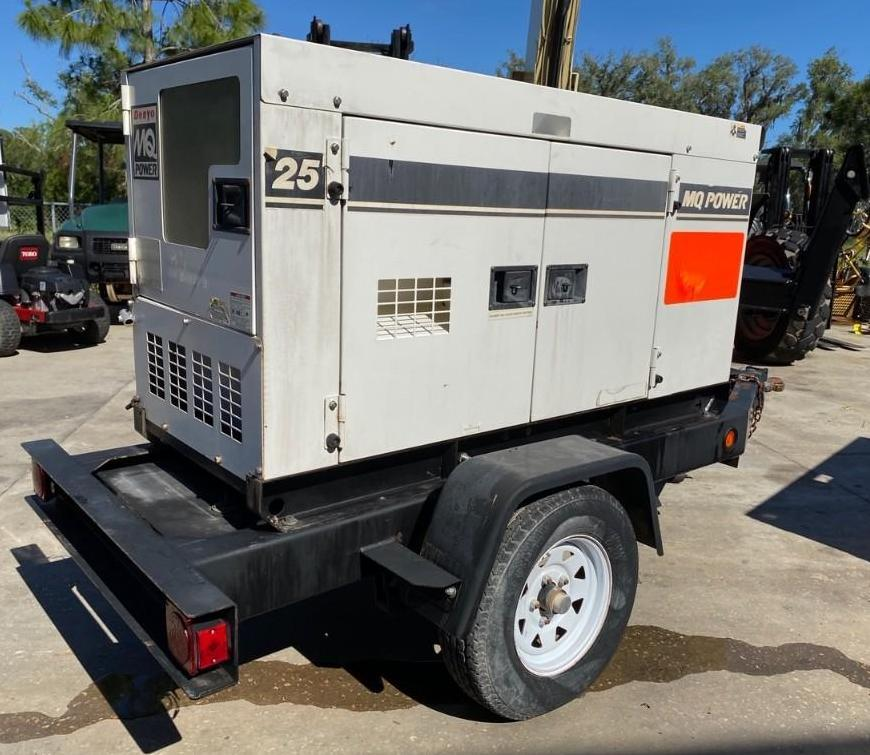 2011/2012 WHISPERWATT MQ POWER DIESEL GENERATOR, TRAILER MOUNTED, 20KW, 25KVA, RUNS AND OPERATES - Image 4 of 20