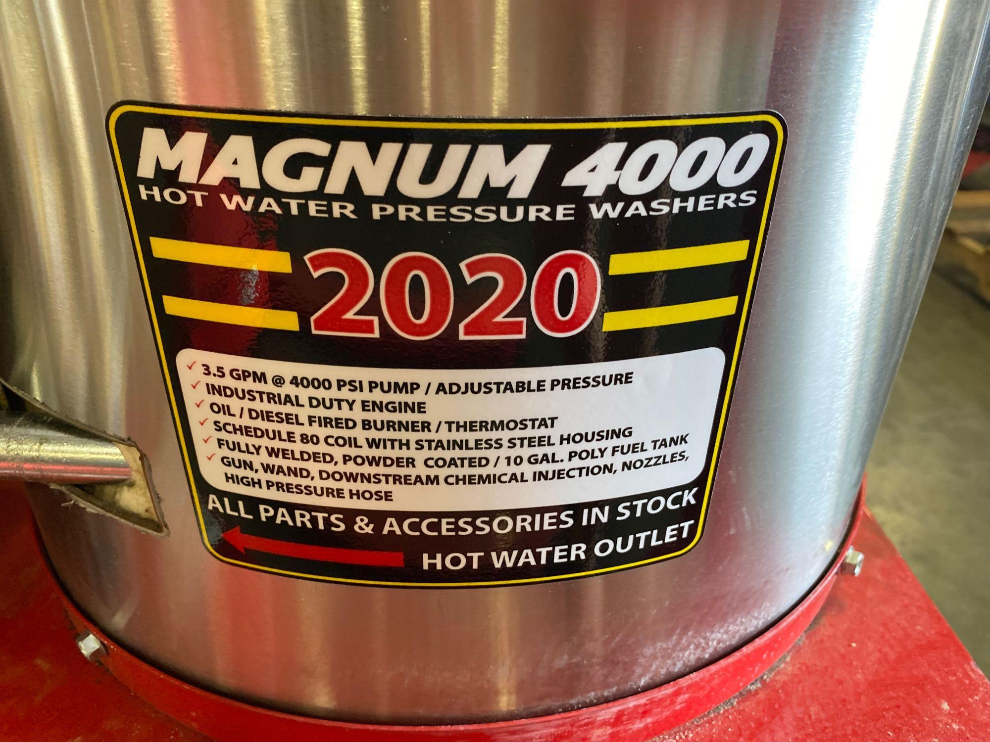 NEW/UNUSED 2020 MAGNUM 4000 HEATED PRESSURE WASHER, ELECTRIC START - Image 6 of 6