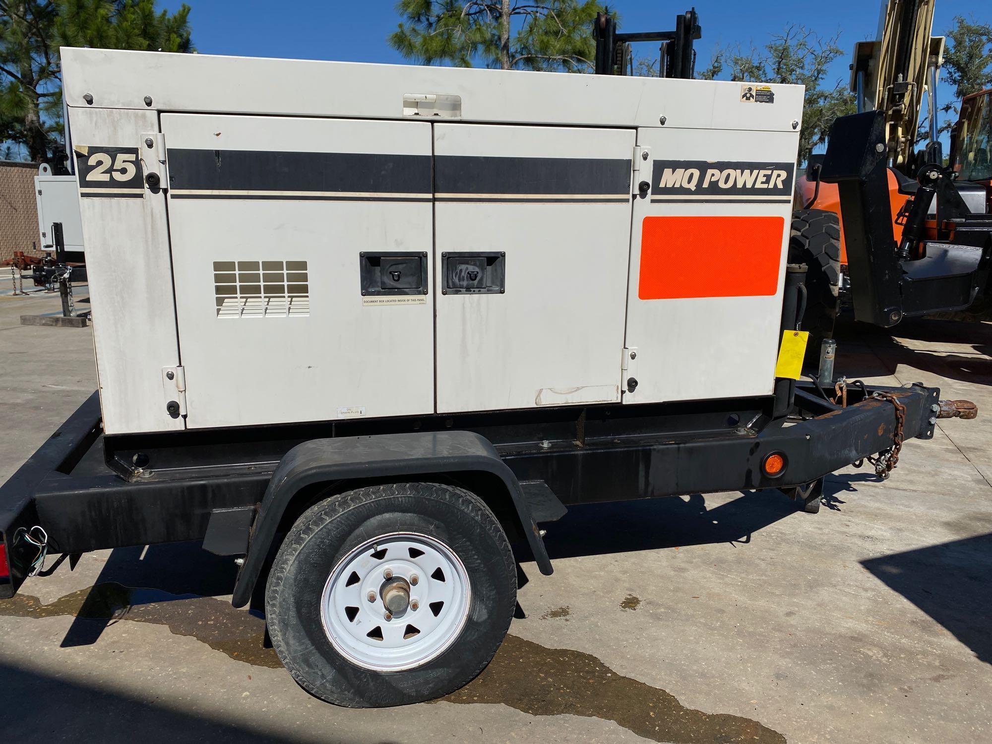 2011/2012 WHISPERWATT MQ POWER DIESEL GENERATOR, TRAILER MOUNTED, 20KW, 25KVA, RUNS AND OPERATES - Image 15 of 20