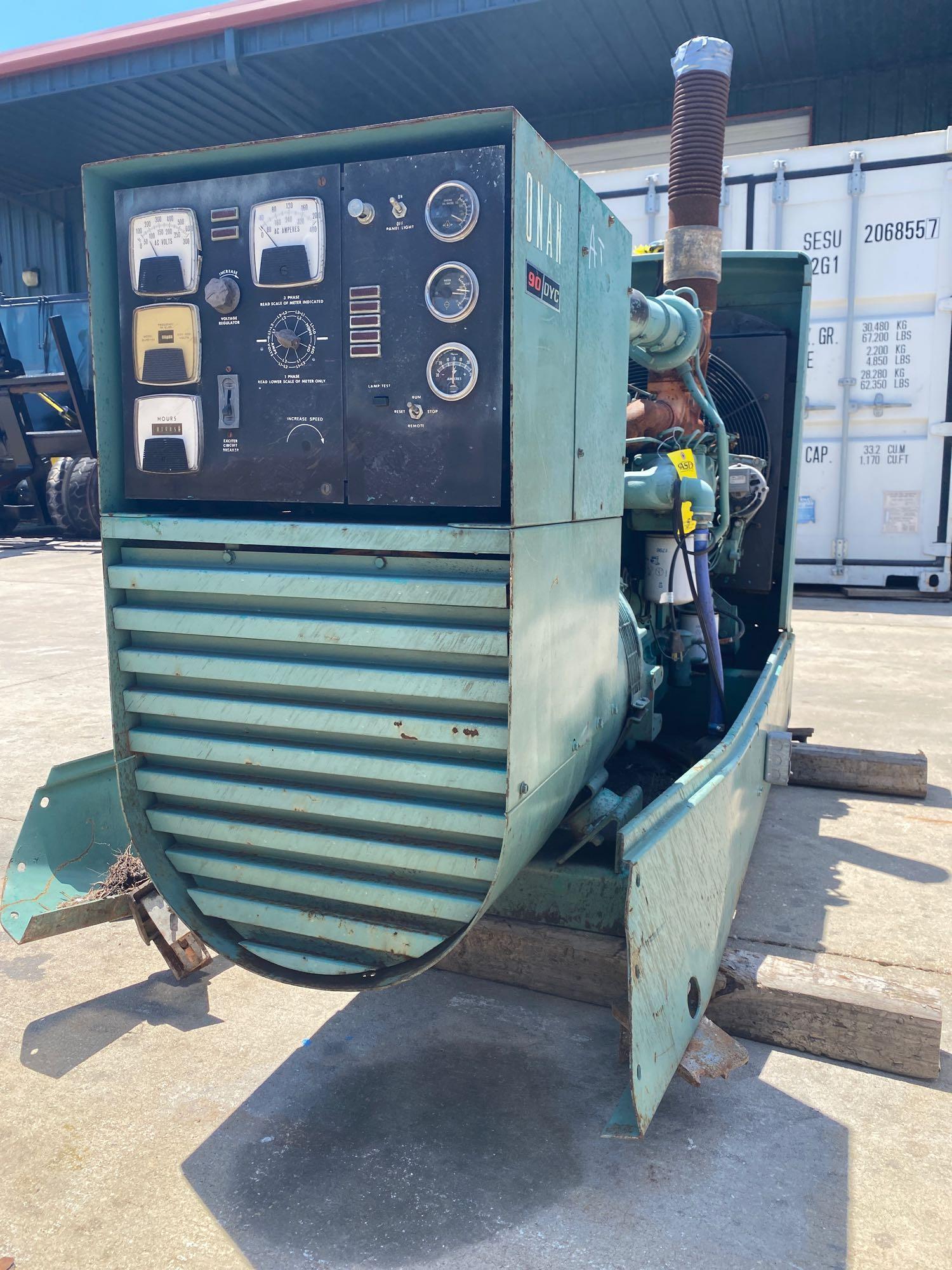 ONAN 90 DYC GENERATOR, 90 KW, 112KVA, 1085 HOURS SHOWING - Image 3 of 11