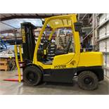 "HYSTER H70FT FORKLIFT, APPROX. 7,000 LB CAPACITY, 181.9"" HEIGHT CAP, TILT, RUNS AND OPERATES"