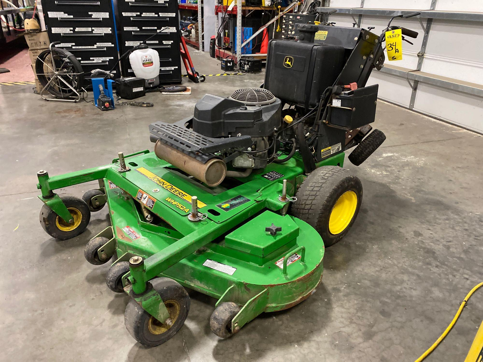"JOHN DEERE MOWER JOHN DEERE WHP52A MOWER, 52"" DECK, RUNS AND OPERATES - Image 2 of 7"