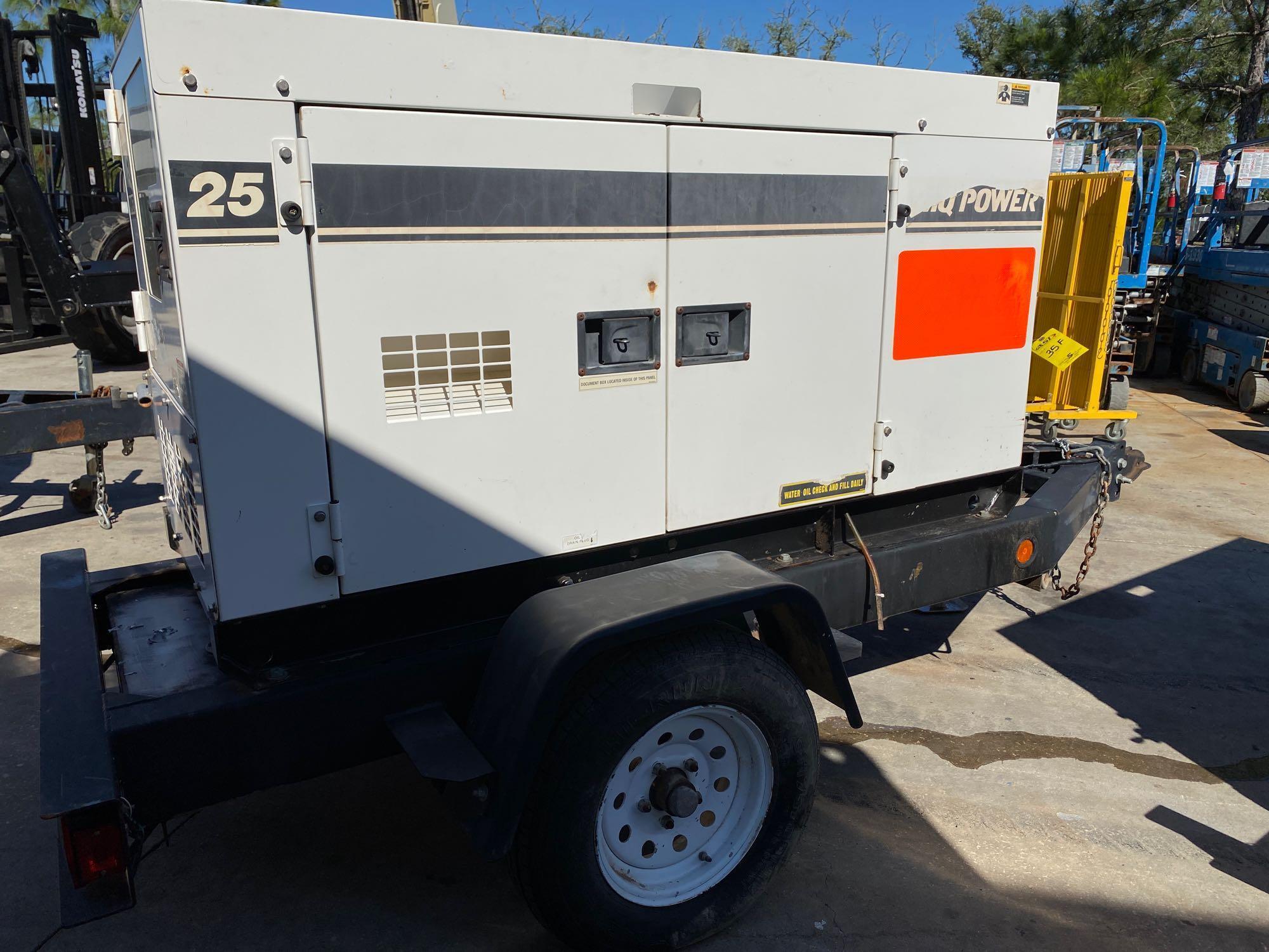 2012 WHISPERWATT MQ POWER DIESEL GENERATOR, TRAILER MOUNTED, 20KW, 25KVA, RUNS AND OPERATES - Image 2 of 10