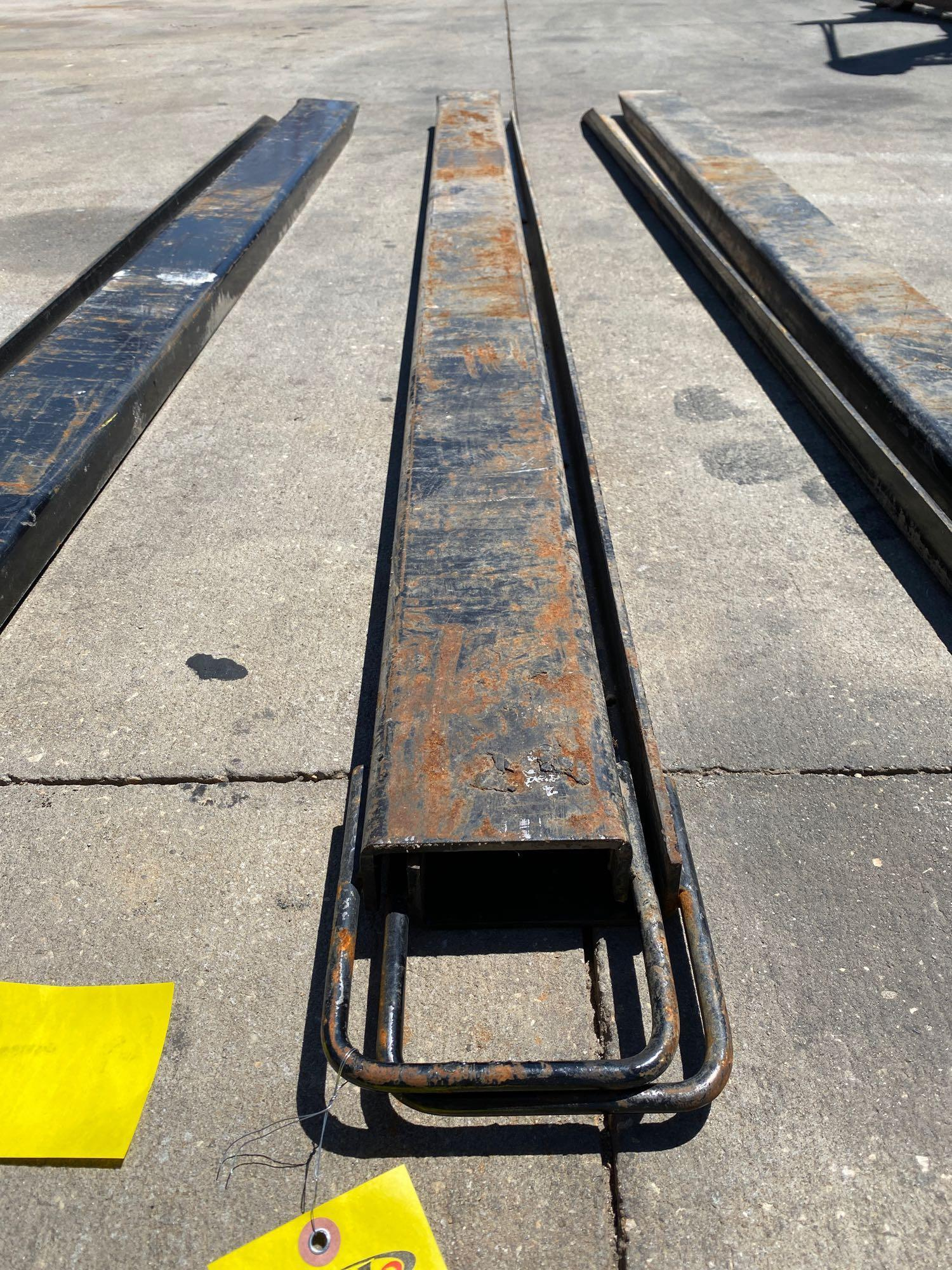 PAIR OF 7' SLIDE ON FORK EXTENSIONS - Image 5 of 5