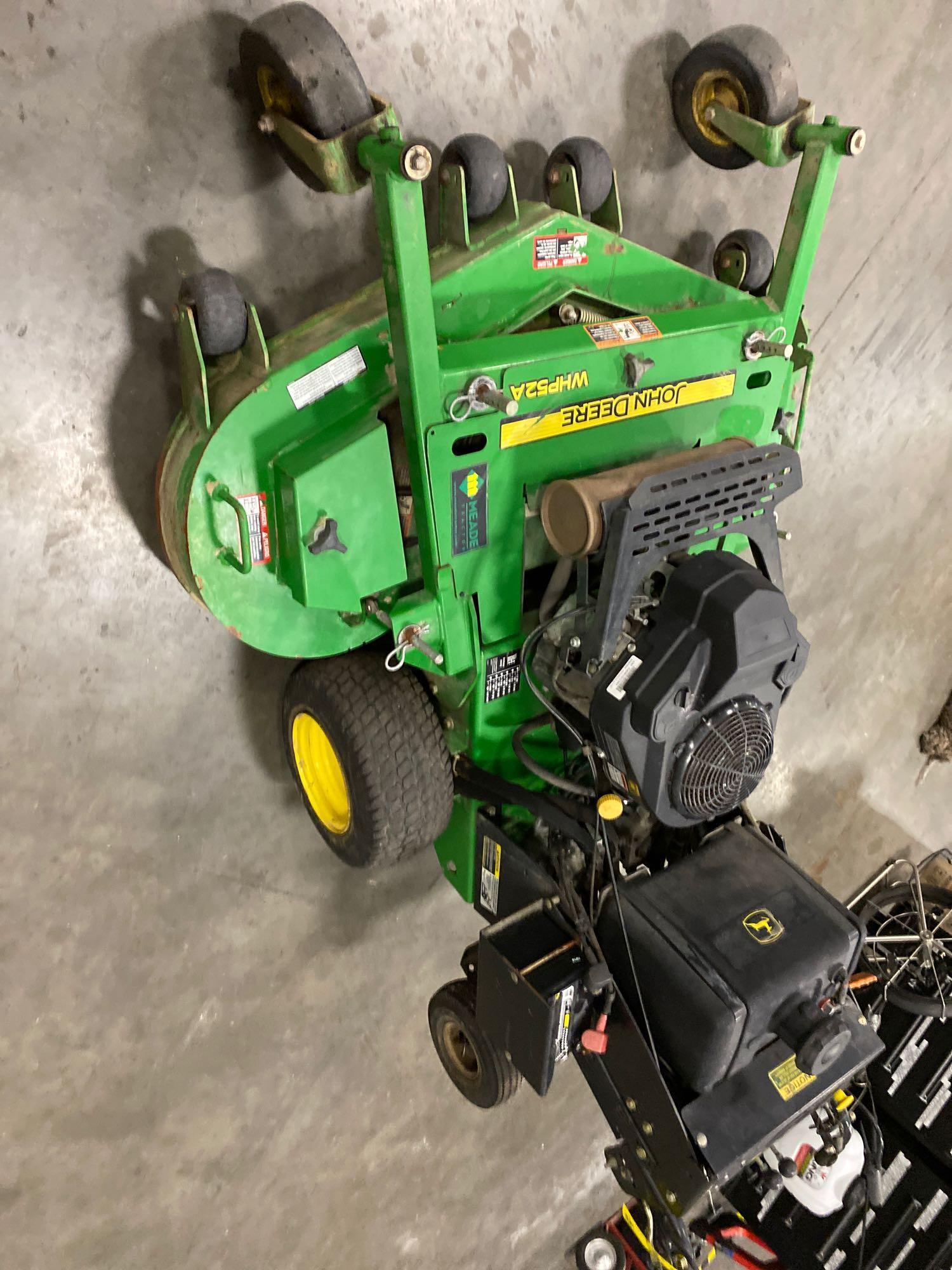 """JOHN DEERE WHP52A MOWER, 52"""" DECK, RUNS AND OPERATES - Image 2 of 7"""