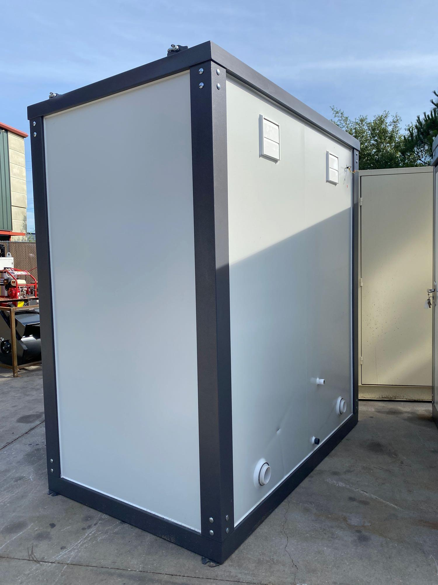"""NEW/UNUSED PORTABLE BATHROOM UNIT, TWO STALLS, PLUMBING AND ELECTRIC HOOKUP, 81"""" WIDE 90"""" TALL 51"""" D - Image 3 of 6"""