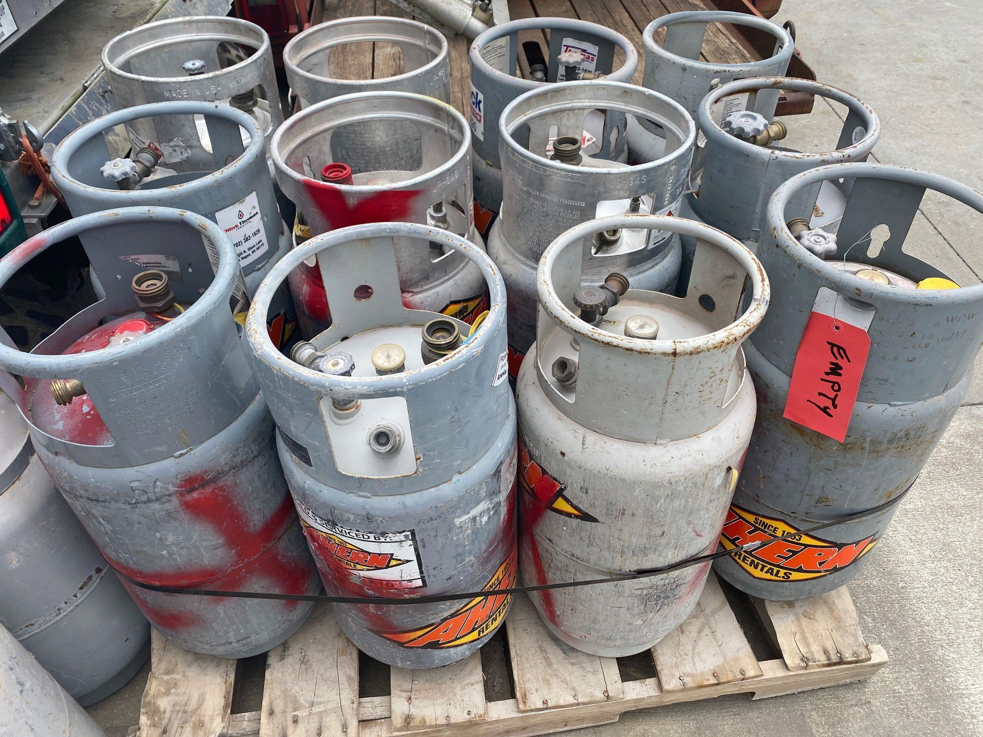 PALLET OF PROPANE TANKS, ALUMINUM AND STEEL - Image 2 of 2