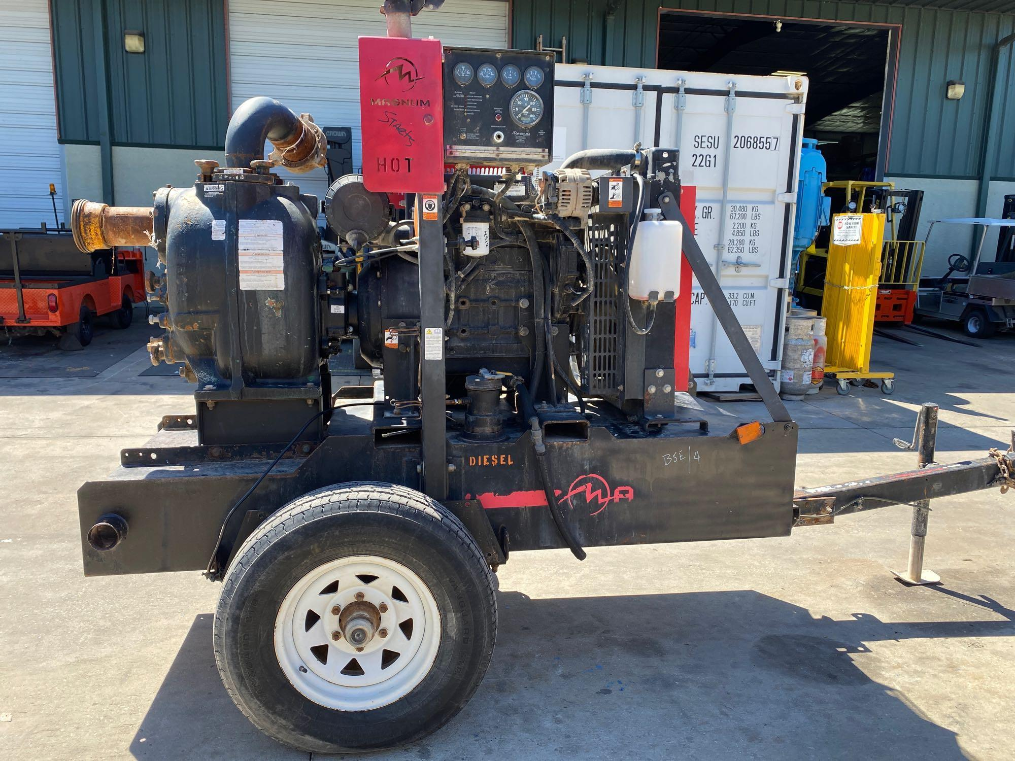 TRAILER MOUNTED MAGNUM 4 INCH DIESEL PUMP, RUNS AND OPERATES - Image 5 of 9
