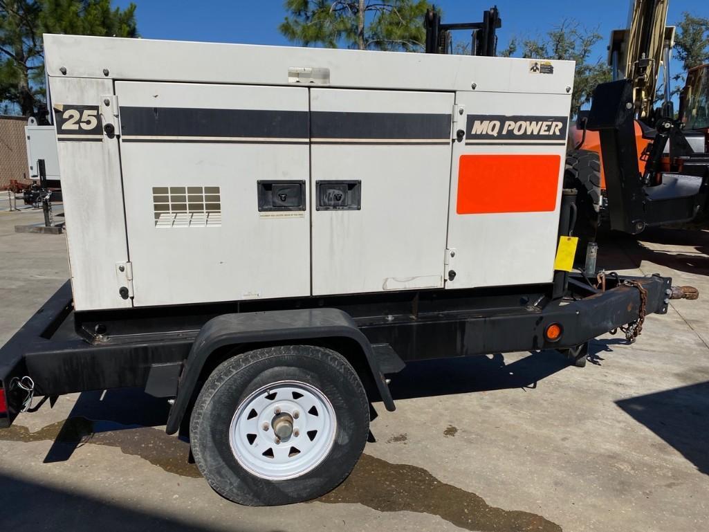 2011/2012 WHISPERWATT MQ POWER DIESEL GENERATOR, TRAILER MOUNTED, 20KW, 25KVA, RUNS AND OPERATES - Image 5 of 20