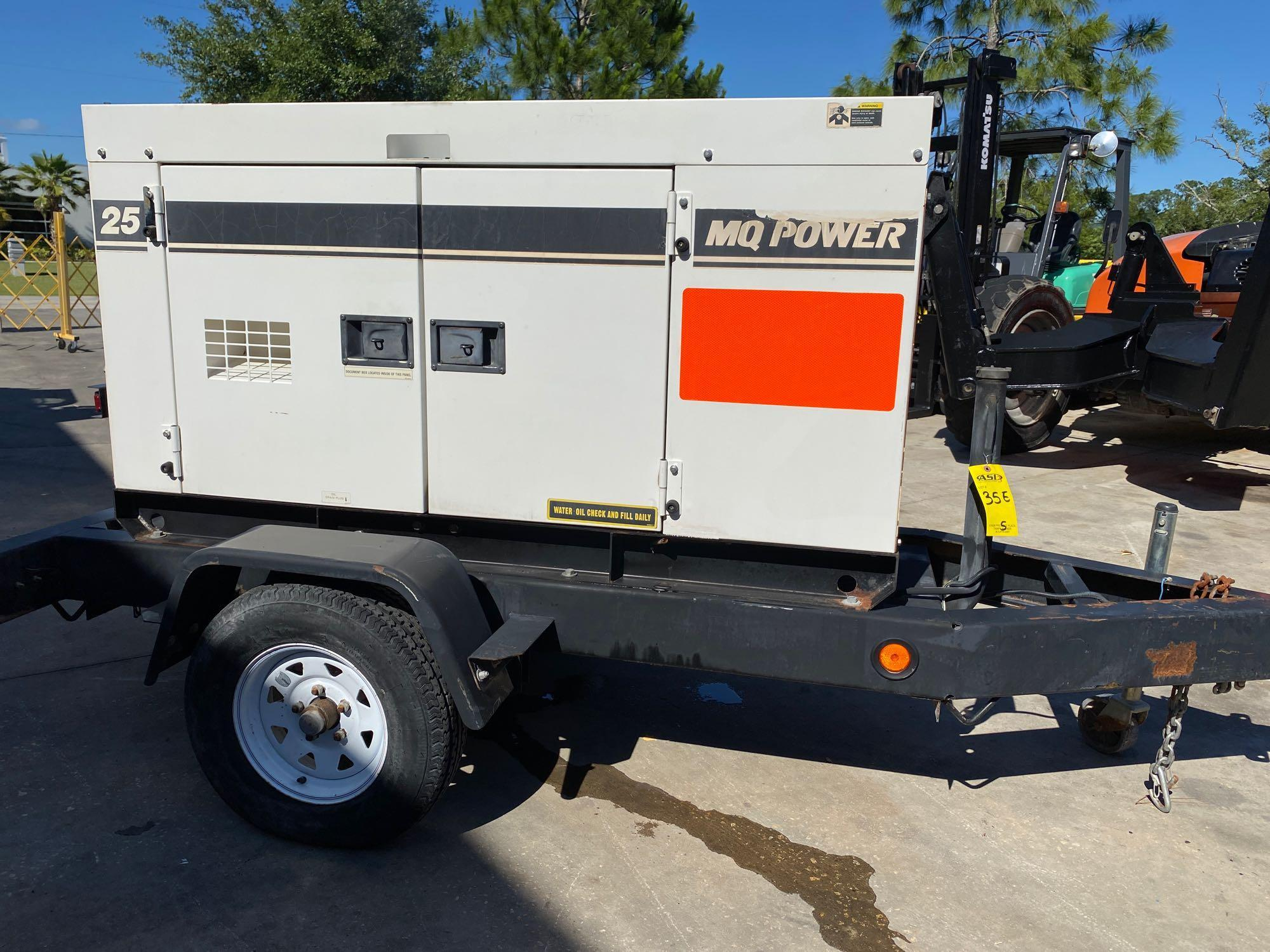 2011/2012 WHISPERWATT MQ POWER DIESEL GENERATOR, TRAILER MOUNTED, 20KW, 25KVA, RUNS AND OPERATES - Image 10 of 19