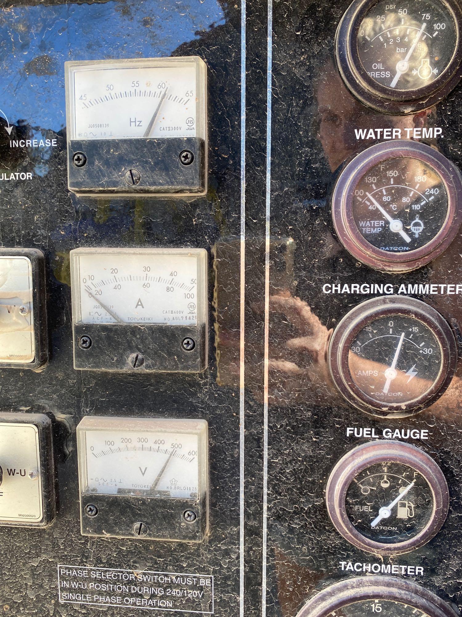 2012 WHISPERWATT MQ POWER DIESEL GENERATOR, TRAILER MOUNTED, 20KW, 25KVA, RUNS AND OPERATES - Image 10 of 10