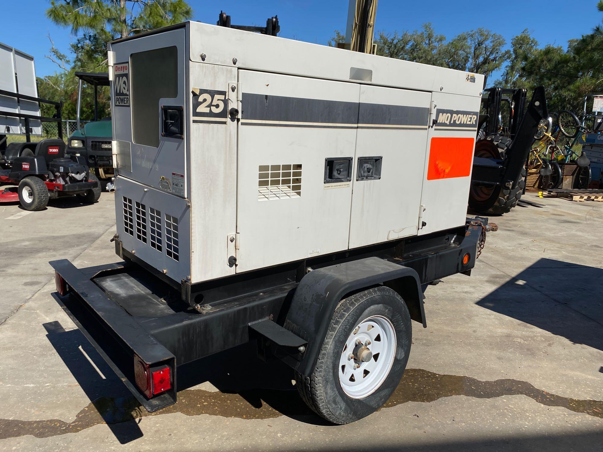 2011/2012 WHISPERWATT MQ POWER DIESEL GENERATOR, TRAILER MOUNTED, 20KW, 25KVA, RUNS AND OPERATES - Image 14 of 20