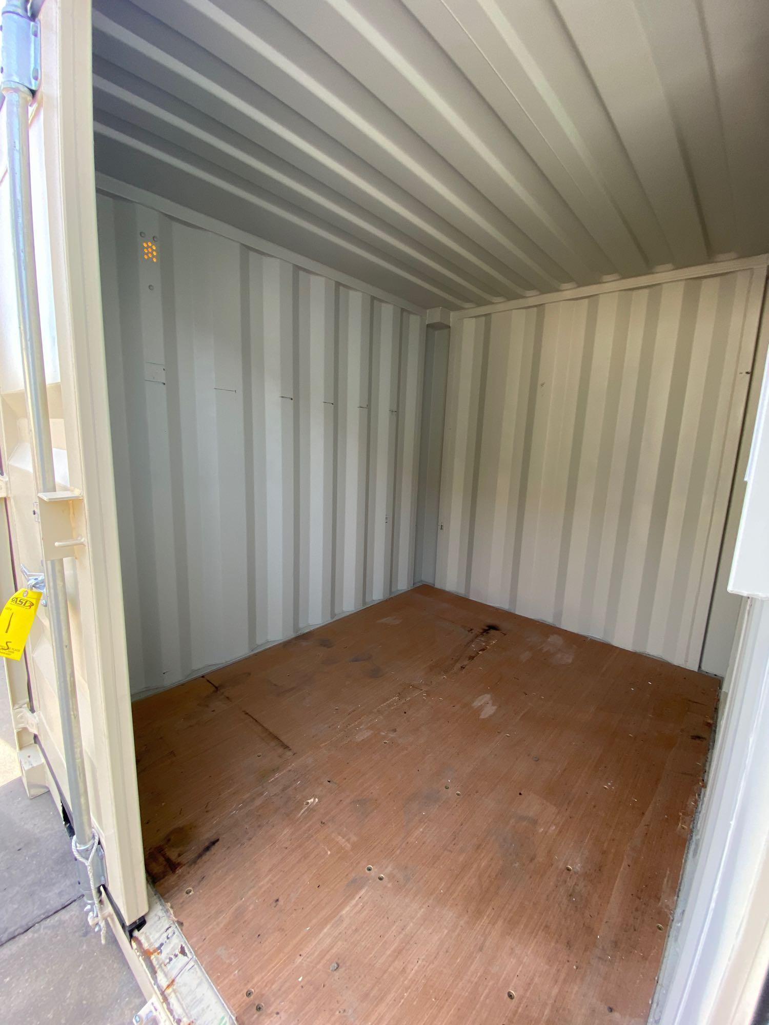 """UNUSED PORTABLE OFFICE/STORAGE CONTAINER WITH WINDOW AND SIDE DOOR, APPROX 77""""w 84""""t 98"""" deep - Image 6 of 6"""