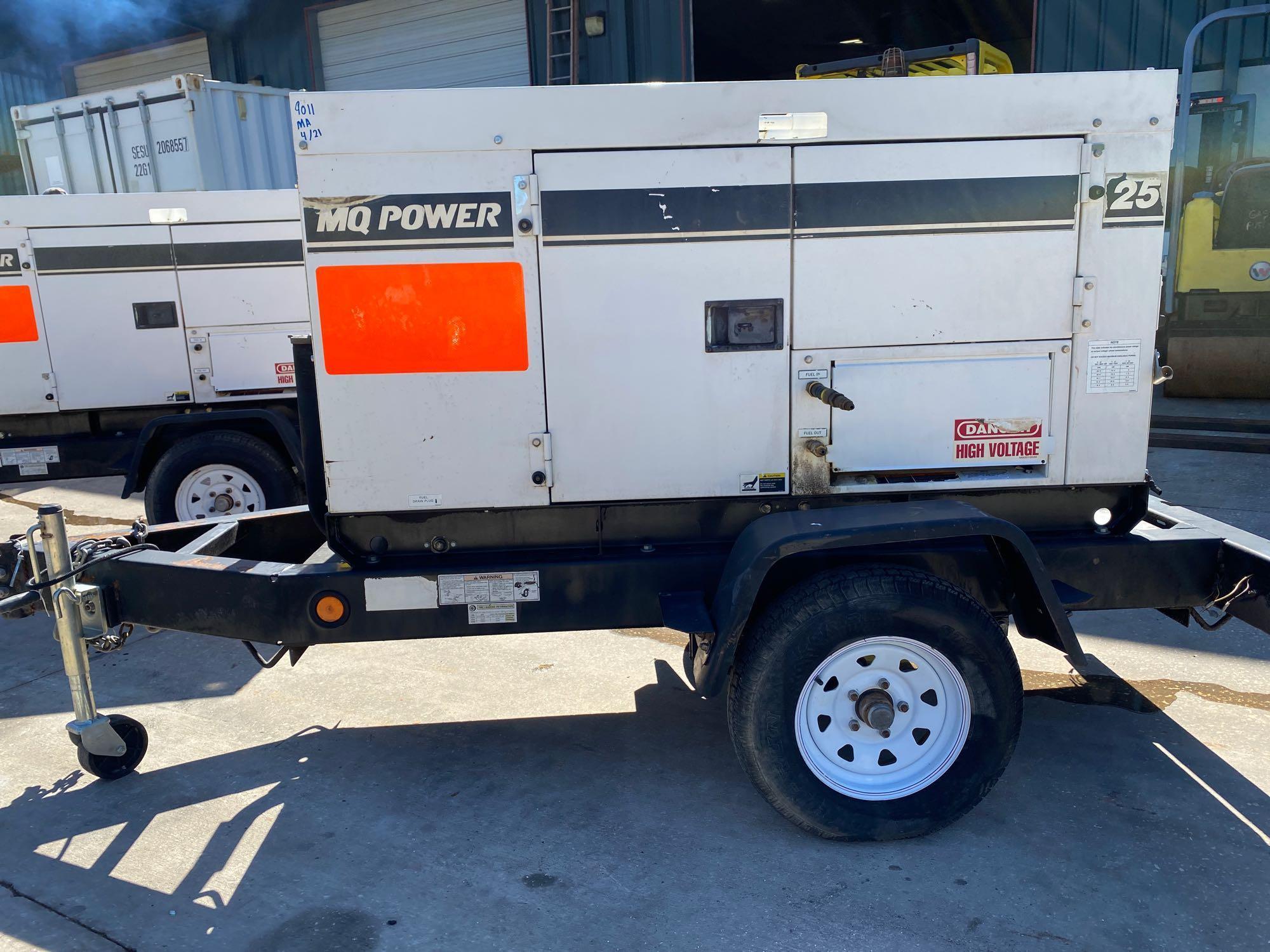 2011/2012 WHISPERWATT MQ POWER DIESEL GENERATOR, TRAILER MOUNTED, 20KW, 25KVA, RUNS AND OPERATES - Image 12 of 20
