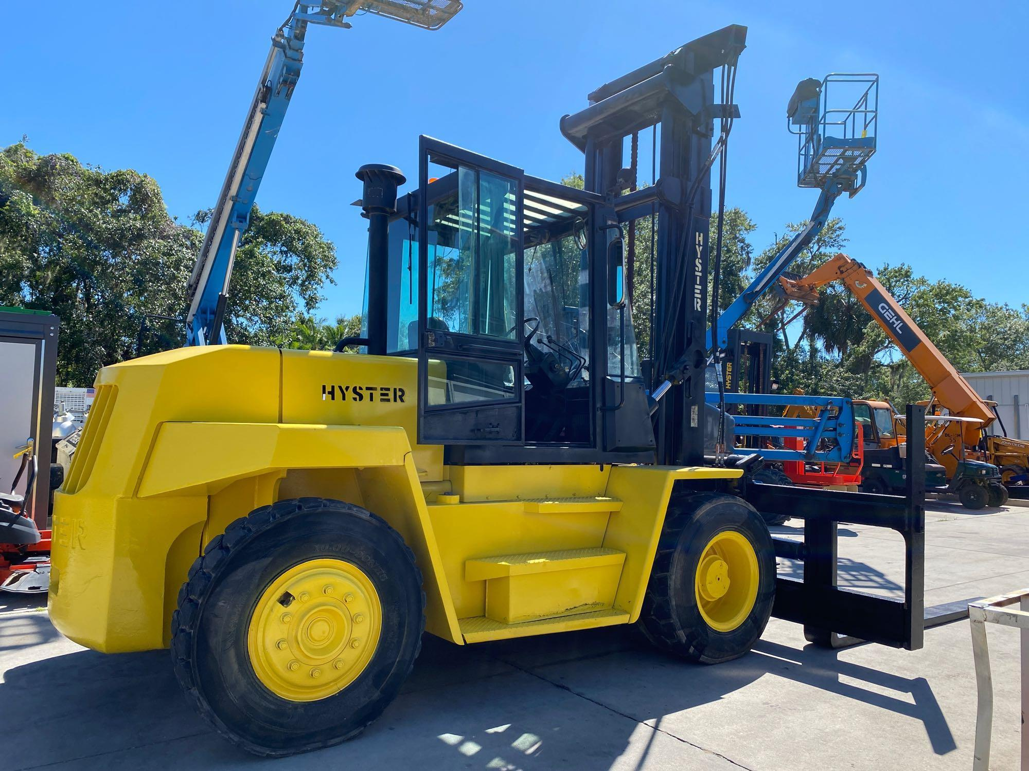 """HYSTER DIESEL FORKLIFT MODEL H190XL2, APPROX. 19,000 LB CAPACITY, 212.6"""" HEIGHT CAPACITY, RUNS AND O - Image 5 of 12"""