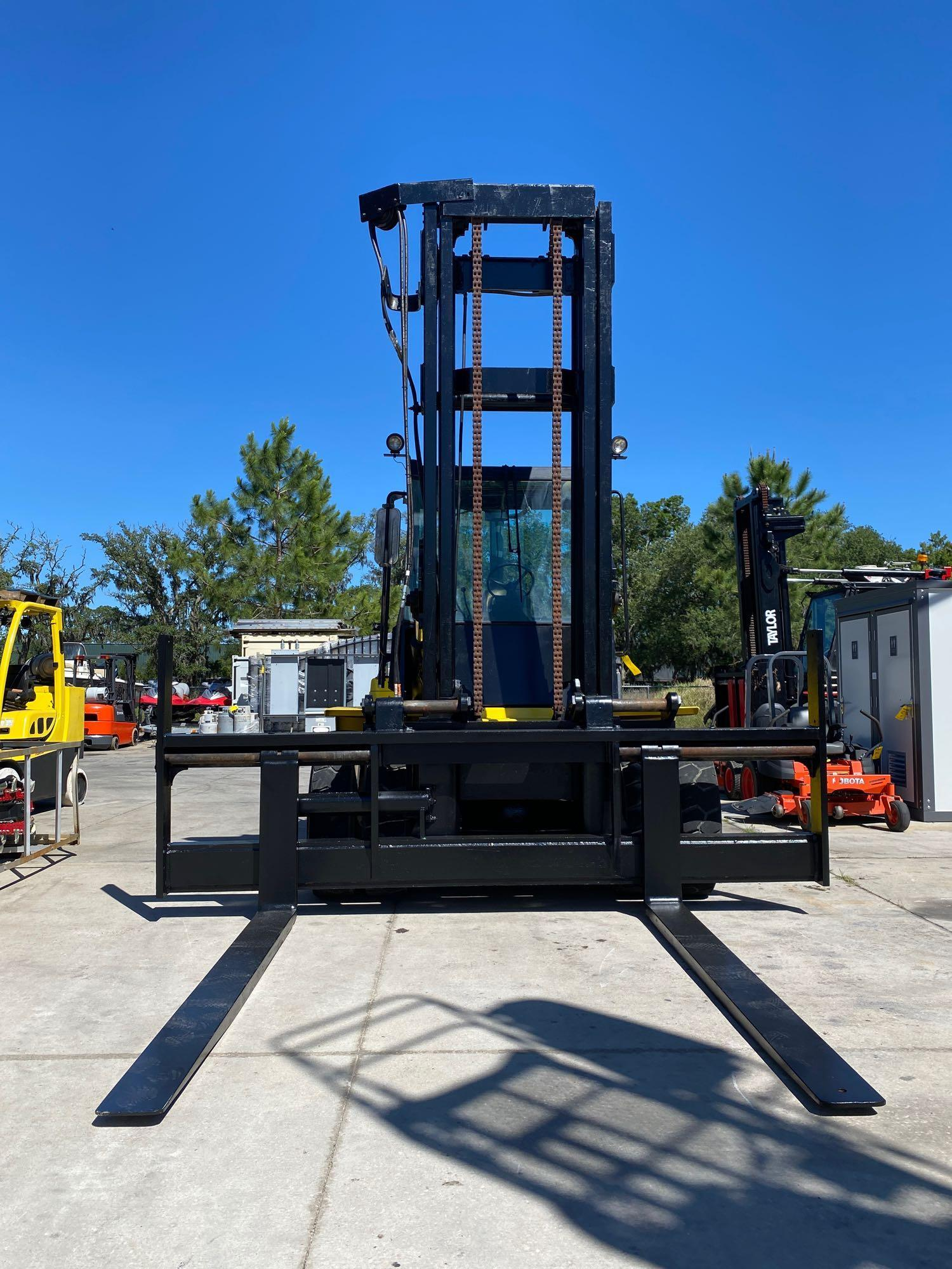 """HYSTER DIESEL FORKLIFT MODEL H190XL2, APPROX. 19,000 LB CAPACITY, 212.6"""" HEIGHT CAPACITY, RUNS AND O - Image 7 of 12"""
