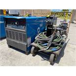 MILLER DELTAWELD 452 ELECTRIC WELDER WITH MILLER 60 SERIES 24V WIRE FEEDER AND CABLES/CORDS