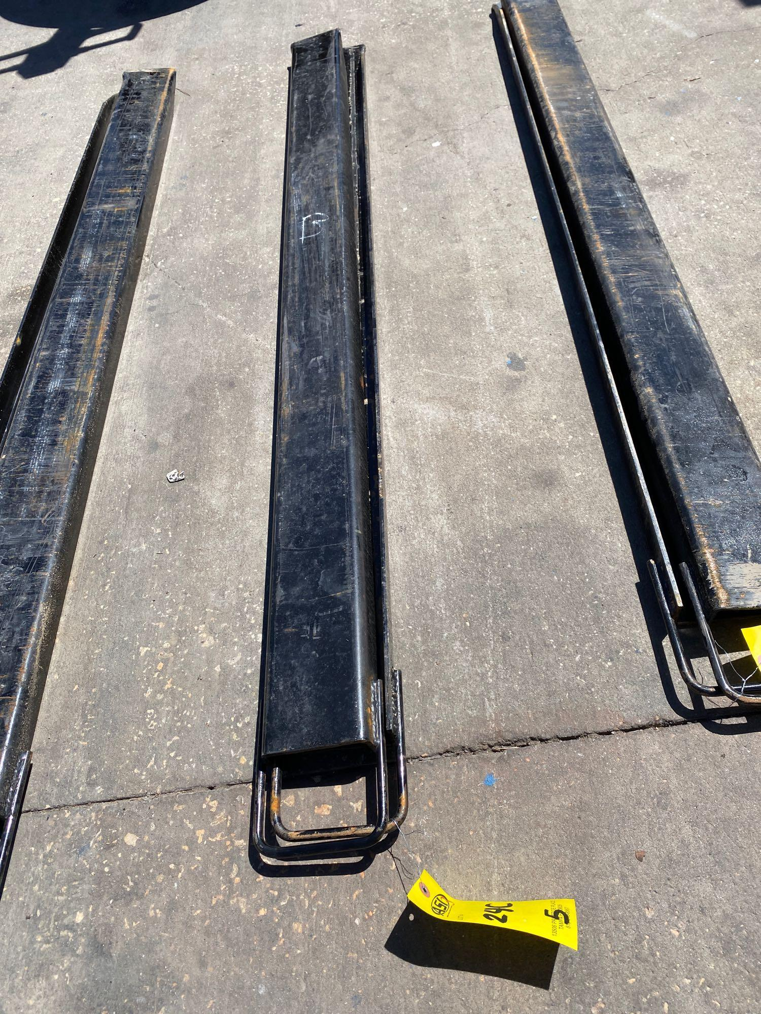 PAIR OF 6' SLIDE ON FORK EXTENSIONS