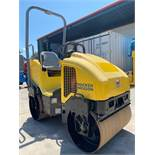 WACKER NEUSON RD12A DOUBLE DRUM ROLLER, VIBRATE, WATER SYSTEM, HONDA GAS POWERED, RUNS AND OPERATES