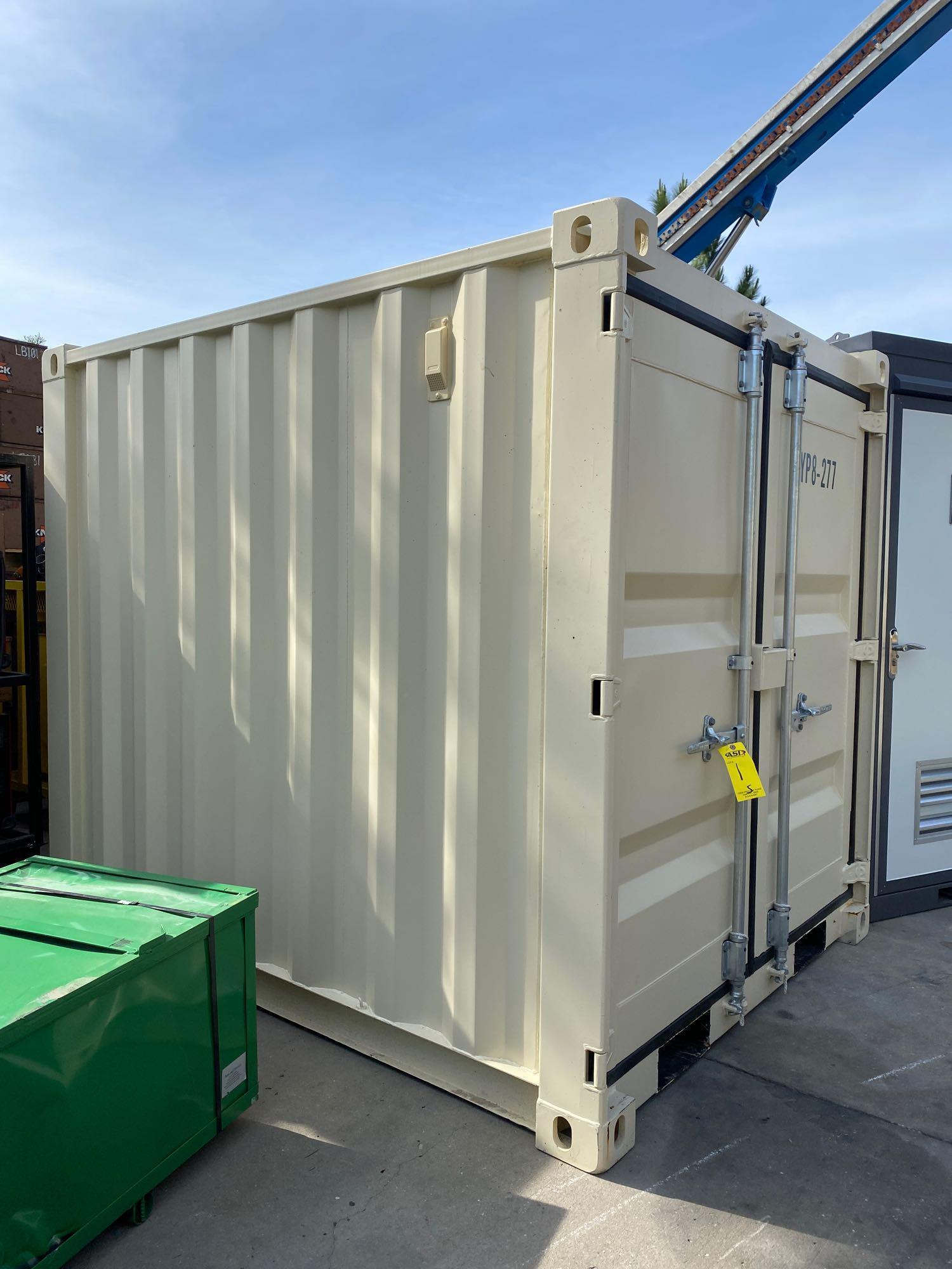 """UNUSED PORTABLE OFFICE/STORAGE CONTAINER WITH WINDOW AND SIDE DOOR, APPROX 77""""w 84""""t 98"""" deep - Image 3 of 6"""